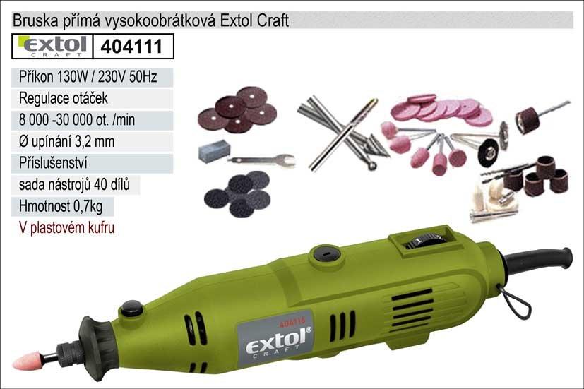 Bruska přímá vysokoobrátková Extol Craft 130W