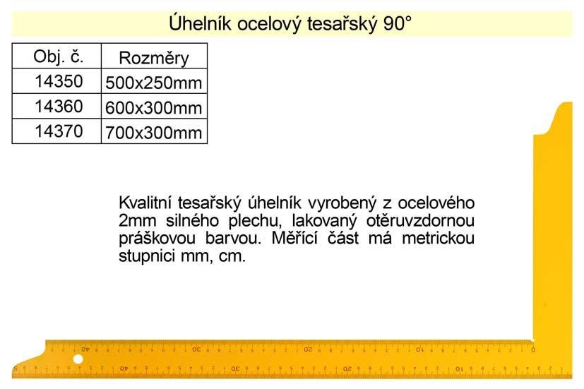 Úhelník tesařský 600x300mm