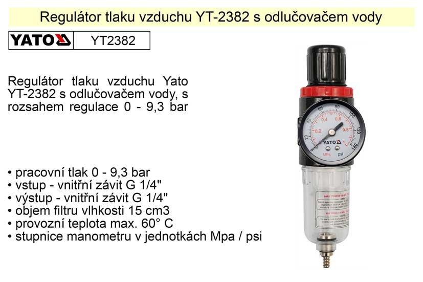 Regulátor tlaku vzduchu s odlučovačem YT-2382