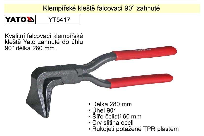 Klempířské kleště falcovací 90°zahnuté 280 mm