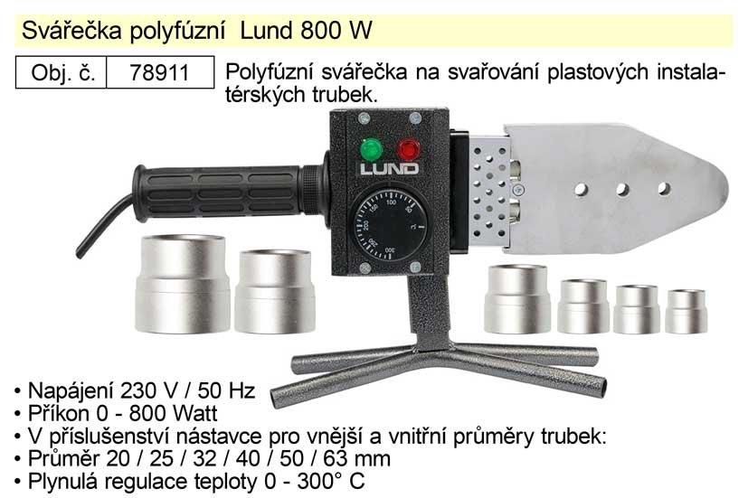 Svářečka polyfúzní Lund 800W TO-78911