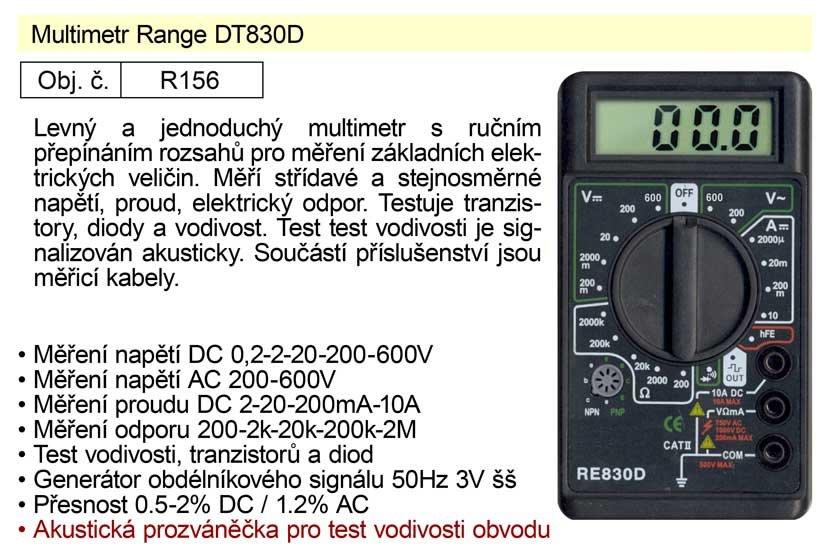 Multimetr Range DT830D