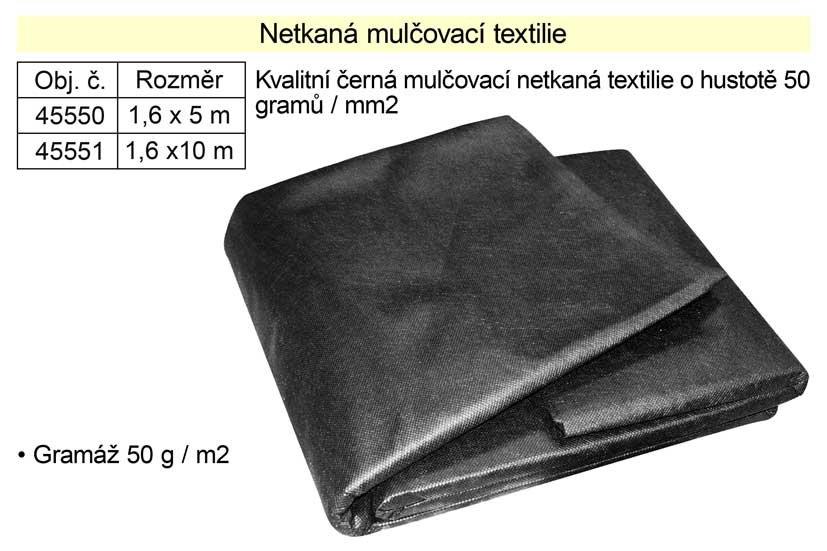 Netkaná textilie mulčovací 1,6x10m 50g/m2
