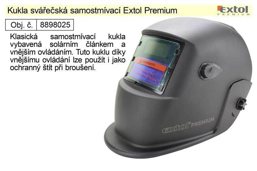 Kukla svářečská samostmívací VH500 Extol Premium