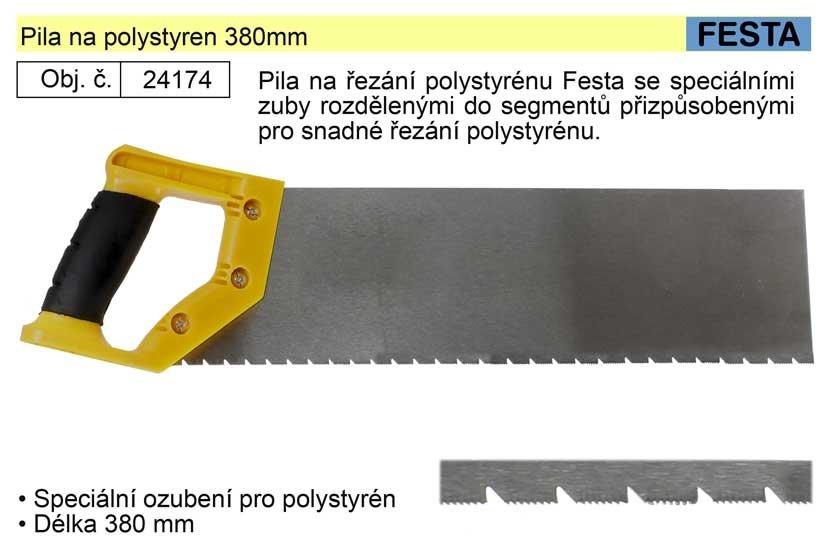 Pila na polystyren 380mm