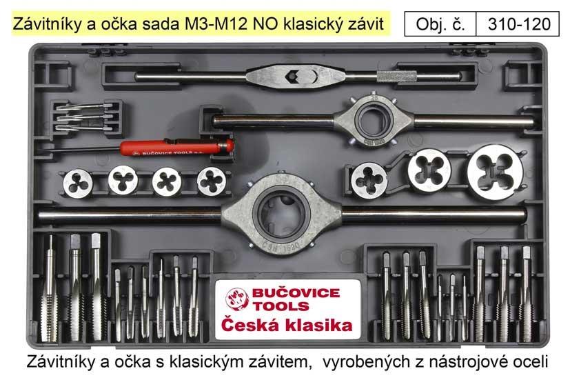 Závitníky a očka sada M3-M12 NO klasický závit, Bučovice Tools