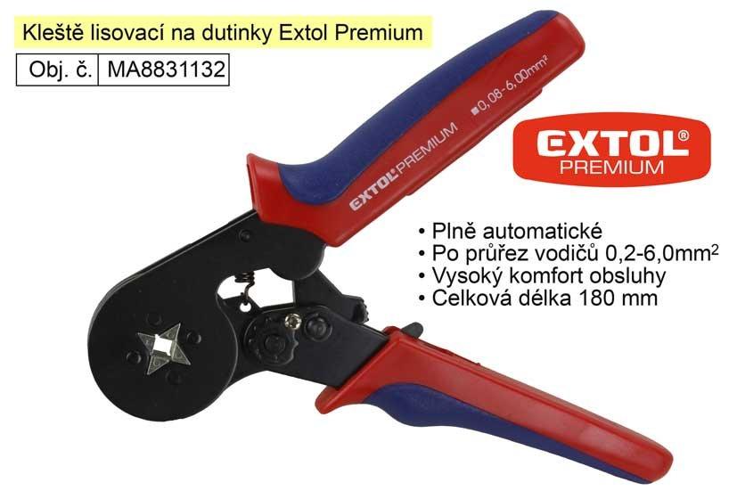 Kleště lisovací na dutinky Extol Premium 8831132