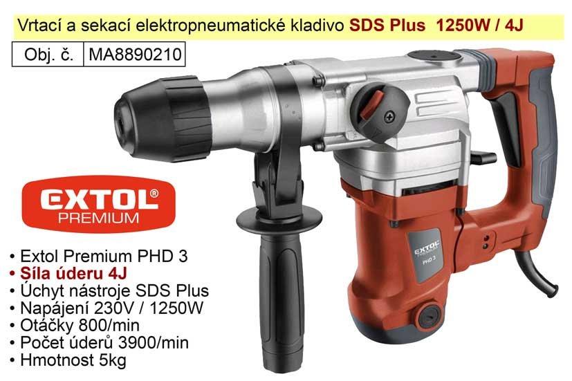Kladivo vrtací a sekací SDS Plus Extol Premium 8890210