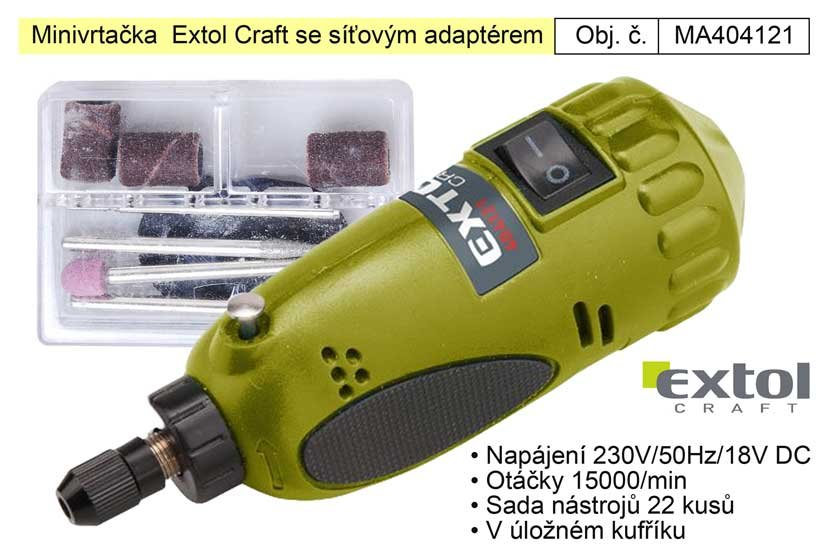Minivrtačka Extol Craft 404121 se síťovým adaptérem
