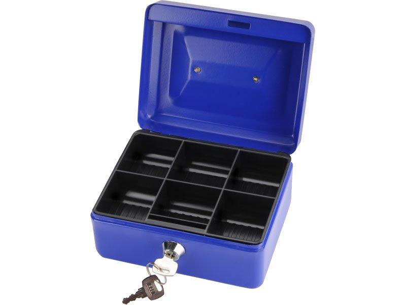 schránka na peníze přenosná s pořadačem, 200x160x90mm, 2 klíče, plastový pořadač na mince
