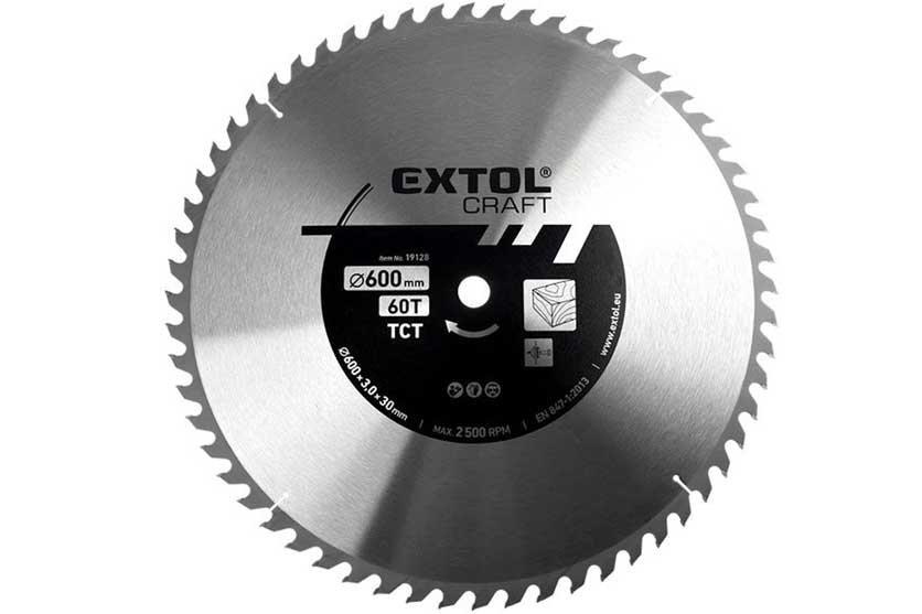 Pilový kotouč s SK plátky 600x30mm 60 zubů Extol Craft